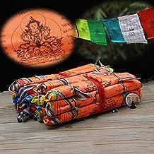 Budista suministros longevidad escrituras sabiduría seda Extender la vida religiosa de bandera de Oración banderas 21banderas/tira 5metros de largo