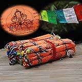 Buddhistische Supplies Langlebigkeit Schriften Wisdom Seide Prayer Flag ausziehbar Life Religiöse Flaggen 21Flaggen/Strip 5Meter lang