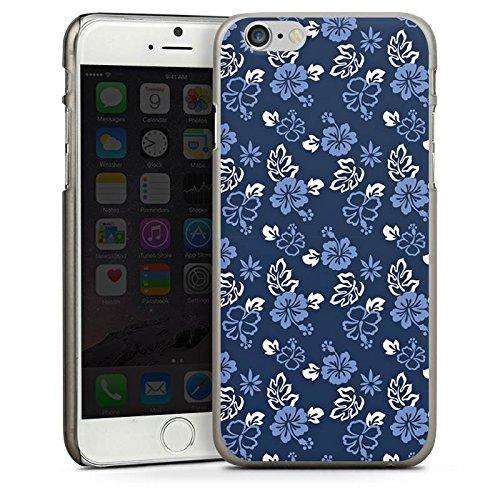 Apple iPhone 5s Housse Étui Protection Coque Fleur Bleu Bleu CasDur anthracite clair