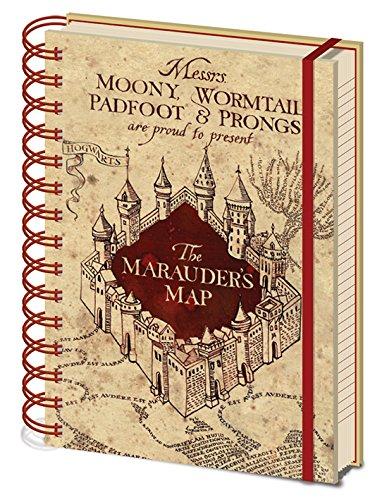 Libreta De Espiral A5 De Harry Potter, Modelo Maps