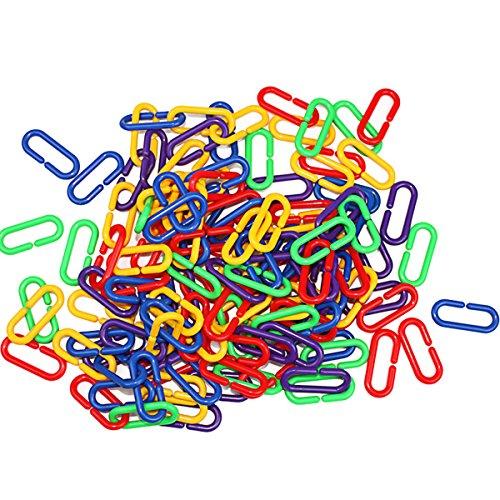 Ueetek – Ganci a Y in plastica. Collegamenti a catena C-link Parrot Bird Toys, 100 pezzi