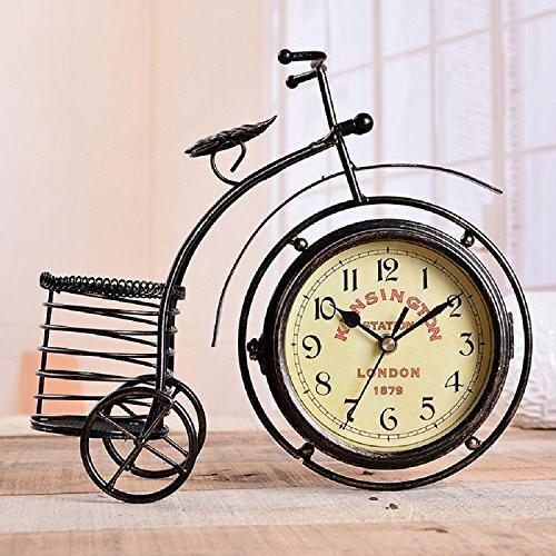 K&C Decoración Reloj de escritorio retro de coches Bicicletas Relojes