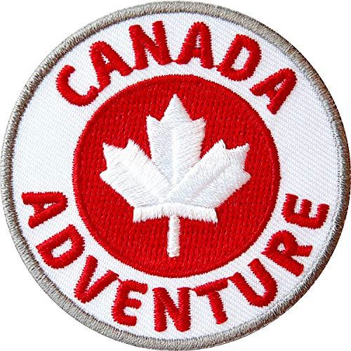 Club of Heroes 2 x Canada 60 mm gestickt/Kanada Abenteuer Outdoor Trekking Reise Camping Ahorn/Applikation Aufnäher Aufbügler Flicken Sticker Bügelbild Patch für Kleidung Tasche Rucksack Reiseführer