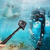 GoPro Stick, Erweiterbar Self Portrait Wasserdicht Aluminium Selfie Stick Pole Handheld Monopod Pole für GoPro Hero 5 , 4, Session, 3+, 3 und andere Action Cam,ideal für Surfen, Ski, Tauchen, Reisen