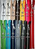 Reißverschlüsse Metall, Aluminum, 2 Stück, TEILBAR, 60 cm, in 13 Farben / Farbe: 13