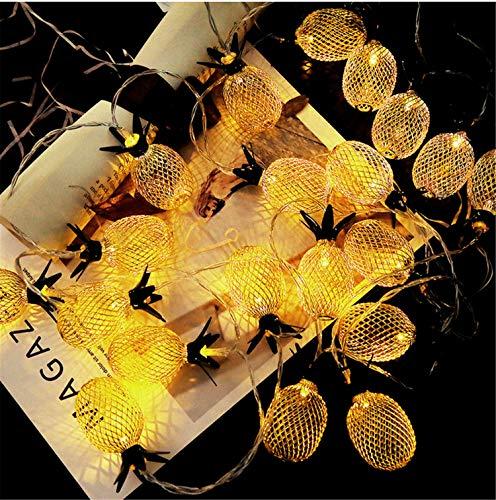 AILEYOU Weihnachten Licht Metall Hohle Ananas Dekoration Lichterkette Batterie 20 LED Indoor Outdoor DIY Familie Neues Jahr Party Festival (Neue Jahre Outdoor-dekorationen)