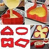 4x Silikon Kuchenform Magic Nonstick Bake Schlangen Erstellen Sie jede Form von Kuchen für Ihre geliebten ...
