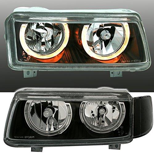 Preisvergleich Produktbild Angel Eyes Scheinwerfer Set, Klarglas Schwarz, mit Standlichtringen