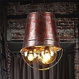 Good quality Attacco lampada a sospensione a soffitto Personalità decorativa in stile industriale retrò con benna decorativa a luce decorativa37 * 40cm