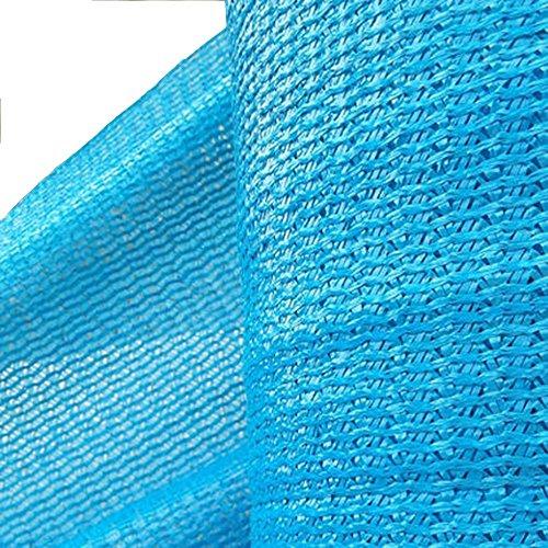 HUO Filet D'ombre Bleu, Tissu De Protection Solaire, Réseau D'isolation D'ombrage pour Le Hangar De Voiture De Balcon De Piscine De Terrain De Jeu (Couleur : Bleu, Taille : 2 * 100m)