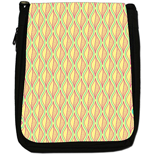 Fancy A Snuggle, Borsa a spalla donna Line Art Leaves With Wavy Line