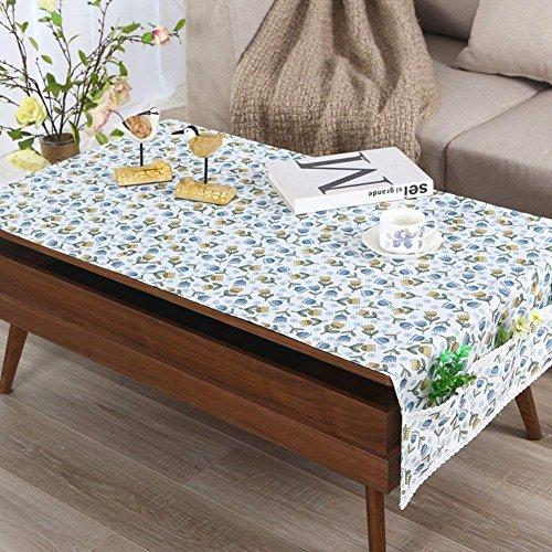 Moderne, Einfache Wasserdichte Lattice Tischdecke Tisch Tee matten Tabelle TV-Schrank-Tuch Pastorale rechteckige Tischdecke-F 80 x 190 cm (31 x 75 Zoll)