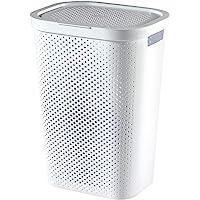 CURVER | Coffre à linge 60L Infinity , Blanc, 43,7 x 35,1 x 60,2 cm, Plastique recyclé