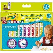 CRAYOLA Mini Kids Pennarelli, Inchiostro Super Lavabile, Punta Arrotondata di Sicurezza, Colori Assortiti, età 12 Mesi, per Asilo e Tempo Libero, Pezzi, 8325