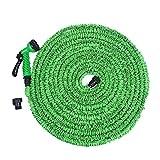Tuyau d'arrosage flexible Magic extensible, bobine, tuyau d'arrosage + pistolet pulvérisateur connecteur (environ 7,5m, vert)
