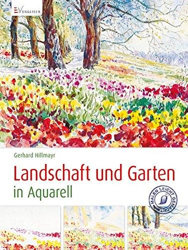 Landschaft und Garten in Aquarell