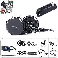 Bafang vélo électrique à moteur central BBS02B de conversion 48V 750W Kit composant Ebike ou Kit avec moteur central à Hailong batterie 48V 11.6 / 17.5Ah / 52V 14Ah / 48V 17.5 Ah Batterie de porte-bagages