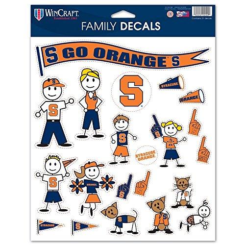 Wincraft NCAA Spirit Family Aufkleberbogen, Orange, 8.5