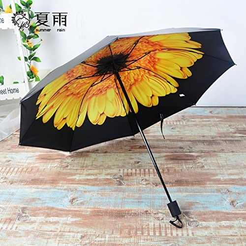 ZQ@QXNero in gomma ombrelli sunscreen ombrello ombrello ombrello pieghevole di uomini e donne, | Elegante e divertente  | Ottimo mestiere  8bd8d9