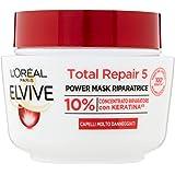 L'Oréal Paris Elvive Maschera Riscostituente Total Repair 5, per Capelli Sciupati, 300 ml