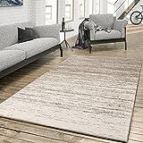 T&T Design Teppich für Das Wohnzimmer Farbverlauf Modern Creme Beige, Größe:120x170 cm