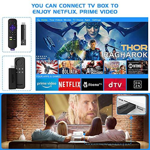61tRkg8Cv9L. SS500  - Wifi Projector, Projector 6000 Lumen With Projector Screen, 1080P Full HD Supported Wireless Projector, Mini Video…