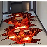 HALLOBO® XXL muurtattoo vloersticker Vulkan Volcano Magma muursticker wandafbeelding woonkamer slaapkamer kinderkamer decorat