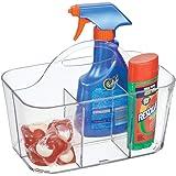 mDesign boîte de rangement transparente pour pinces à linge et Cie – panier de rangement compartimenté – petite caisse de ran