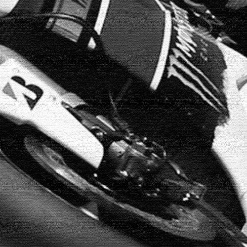 Canvas Culture - Moto GP Valentino Rossi Black & White Canvas 90 x 60cm