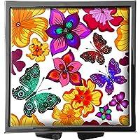 metALUm Pillendose/quadratisch / Modell Marco/Grafik aus Blumen und Schmetterlingen / 41010015 preisvergleich bei billige-tabletten.eu