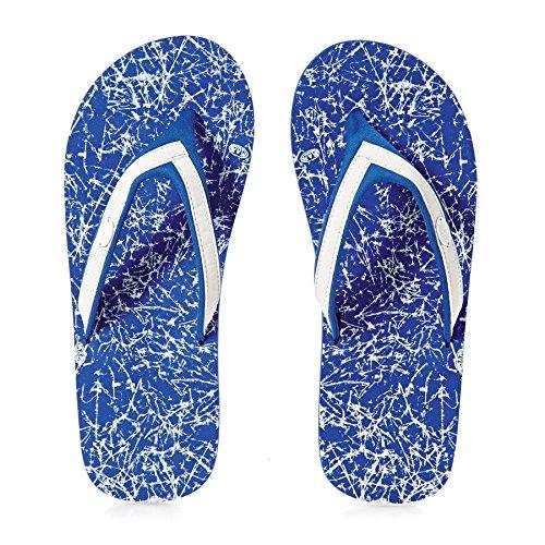 Animal Swish Slim Aop, Sandales Plateforme Femme blue