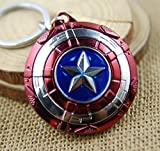 Captain America Schild Schlüsselanhänger Mit Drehende Sterne
