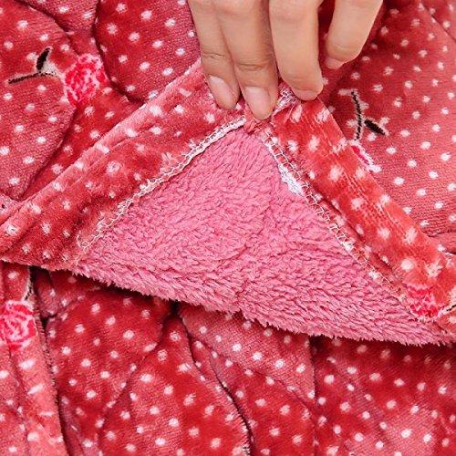 Stampa Invernale Spessa Della Camicia Da Notte Di Pigiami Lunghi Di Inverno Pink