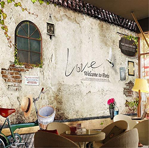 GBHL Fototapete Wandbilder Klassische Alte Straße Wand Foto Paris Küche Café Restaurant Hintergrund Tapeten Papel De Parede 3D, 250x175 cm (98.4 von 68.9 in) (Foto Kulissen Von Paris)