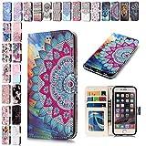 V-Ted Coque Housse Etui Samsung Galaxy S6 Edge Mandala Flip Case Cover Portefeuille...