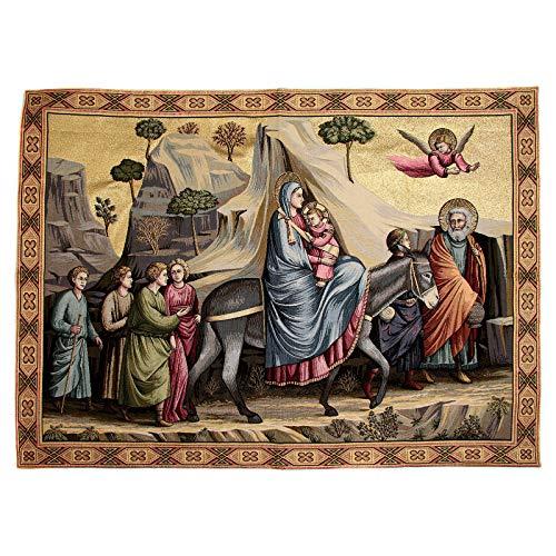 Holyart Wandteppich Flucht nach Ã?gypten nach Giotto 90x130 cm