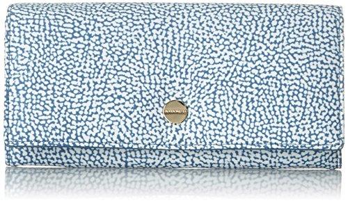 Borbonese 930372205, Portafoglio Donna, Blu (Mar), 19x10x2.5 cm (W x H x L)