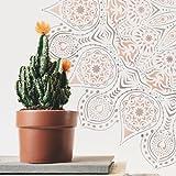 TODO STENCIL Home Decor Rosetón 012 Mandala, Medidas: Stencil 50 x 50 cm - Diseño 48 x 48 cm