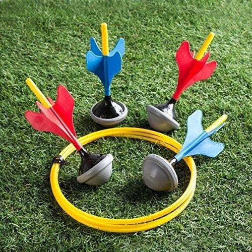 Classic Rasen Dart Spiel Set Garten Outdoor Spielspaß Dart Wurfspiele 4Darts - Spiele Rasen