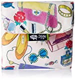 Kanvas Katha Trifold Sanitary Napkin Printed poly Canvas Pouch Holder (Multi-Color) (KKSP009)