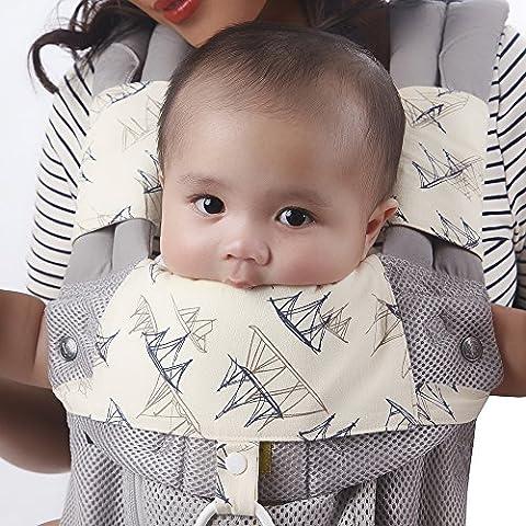 Schultergurtschoner, Sabberschutz, Lätzchen für Babytrage von Lillebaby, Infantino, Babybjörn, Bebamour, Beco & Ergo – 3-teiliges Set aus Bio Baumwolle von Baby Preferred