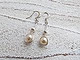 Ohrringe'Nest' Wire Wrap mit creme Perlen