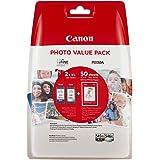 Canon PG-545XL+CL-546XL Valuepack de tinta original BK XL+Tricolor XL (GP-501 50 sheets) para Impresora de Inyeccion de tinta