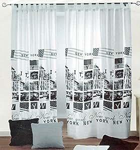 rideau microfibre pr t poser design usa new york. Black Bedroom Furniture Sets. Home Design Ideas