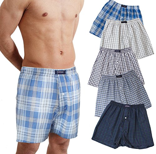 BRUBAKER lot de 6 Boxer-short hommes boxer shorts tissu caleçons en coton peu froissable Brubaker