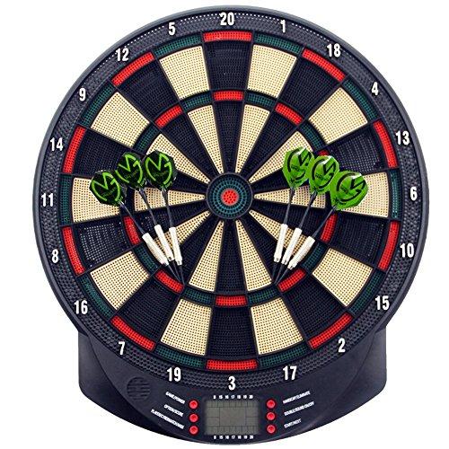 MCTECH® Profi Elektronische Dartscheibe Dartboard Dartona Soft-Dartpfeile Steeldart 6 Dartfeile + 70 Varianten (Type A)