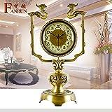 Antike Uhr Kupfer Pendeluhr Mute kreative, schöpferische Schlafzimmer Wohnzimmer Küche Dekoration Geschenke,FD-6053