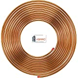Visiaro Soft Copper Pipe/Tube Pancake Coil, Outer Diameter - 1/4 inch and Wall Thickness - 25 guage