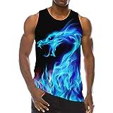 Loveternal Mens 3D Digital Printed Tank Top Summer Casual Vest T-Shirt
