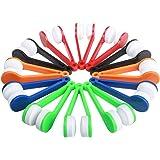 Ciaoed Mini nettoyant pour lunettes, dispositif de nettoyage de brosse pour lunettes En microfibre (Vert, rouge, noir, bleu,